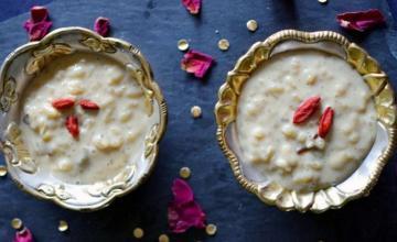 Date & Strawberry Rice Pudding