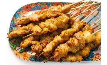 Grilled Curry-Chicken Kebab