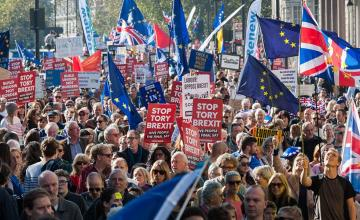 BREXIT MARCH; ABSENCE OF PAKISTANIS