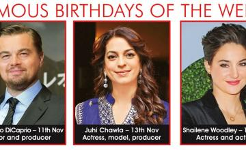 FAMOUS BIRTHDAYS OF THE WEEK