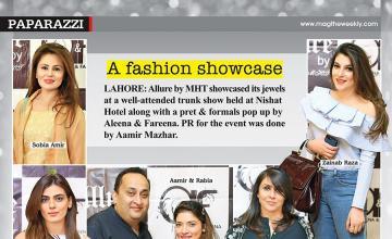 A fashion showcase