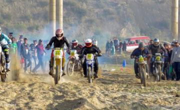 Off-road bike race in Jhelum