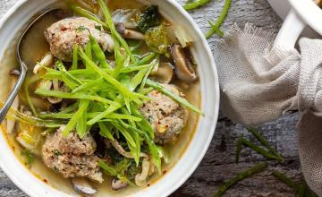 GINGERED TURKEY MEATBALL SOUP