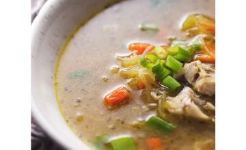 Keto no-noodle chicken soup