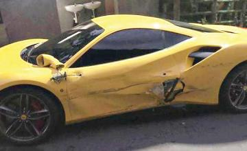 Taiwan public helps pay £300,000 repair bill after driver crashes into four Ferraris