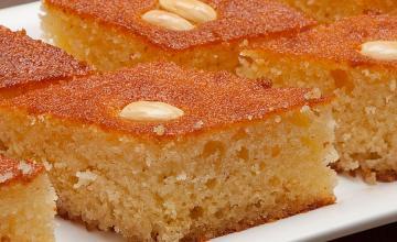 Basboosa (semolina cake)
