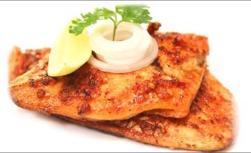 Tikka-style fish steak