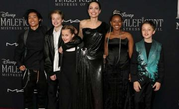 Angelina Jolie's kids join her at the Maleficent: Mistress of Evil premiere