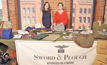 Sisters transform military materials into 'beautiful' bags – and use the profits to help vets