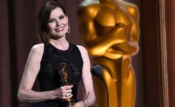 Geena Davis gets honorary Oscar at star-studded event