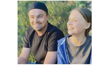 Leonardo DiCaprio praises Greta Thunberg as a 'leader of our time' after they meet