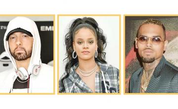 Eminem says he sides with Chris Brown over Rihanna assault on alleged leaked song