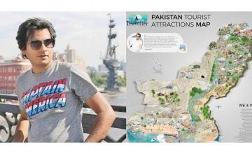 Pakistani designer creates tourist map to help you with travel plans