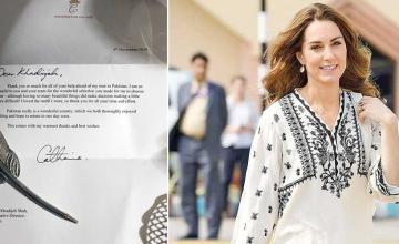Kate Middleton pens a heartfelt letter to Khadija Shah