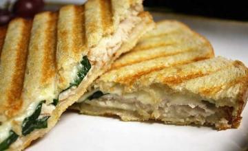Oprah's Turkey & Cheese Panini Sandwich