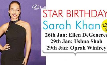 STAR BIRTHDAYS Sarah Khan