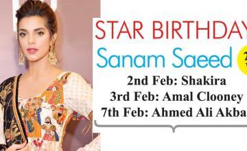 STAR BIRTHDAYS Sanam Saeed