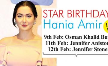 STAR BIRTHDAYS Hania Amir