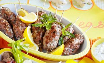 Lamb Skewers with Minted Tzatziki