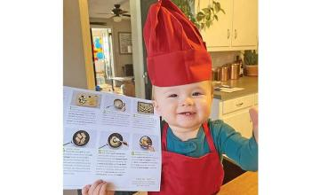 One-year old chef Kobe wins the internet