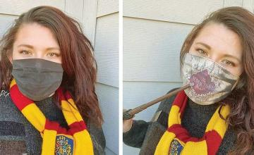 'Harry Potter' fan creates face mask which uncovers 'magical' detail as you breathe