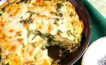 Crust less Spinach Cheese Pie