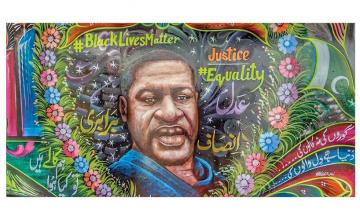 Truck art tribute to George Floyd and Black Life Matters movement