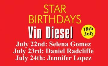 STAR BIRTHDAY VIN DIESEL