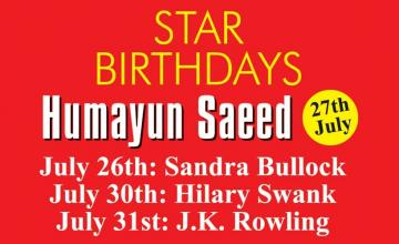 STAR BIRTHDAYS Humayun Saeed