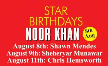 STAR BIRTHDAYS NOOR KHAN