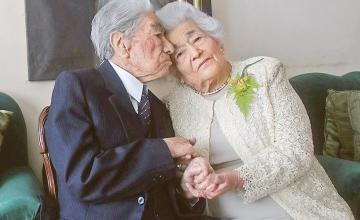 World's oldest married couple, with a combined age of 215, sets new world record