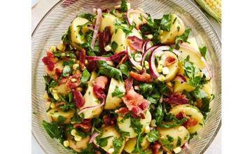 Potato Salad with Sweet Corn and Red Onion