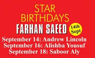 STAR BIRTHDAYS FARHAN SAEED
