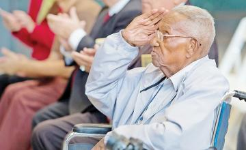 America's oldest World War II veteran celebrates his 111th birthday in New Orleans