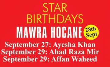 STAR BIRTHDAY MAWRA HOCANE
