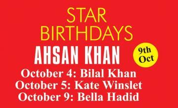 STAR BIRTHDAYS AHSAN KHAN