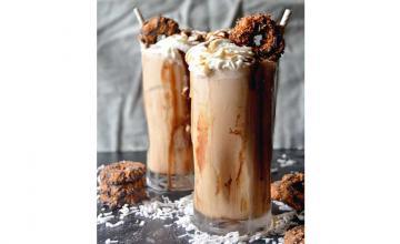 Samoa Cookie Iced Coffee