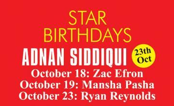 STAR BIRTHDAYS ADNAN SIDDIQUI