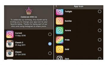 Instagram on its 10th birthday brings back their classic icons to celebrate