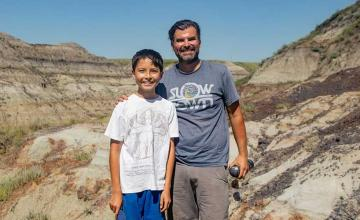 12-year-old boy finds 69-million-year-old fossil on hike in Canada