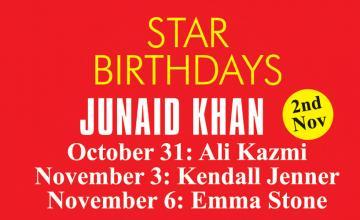 STAR BIRTHDAYS JUNAID KHAN