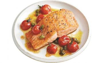 Brown-Butter Salmon with Tomatoes and Capers