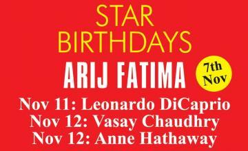 STAR BIRTHDAYS ARIJ FATIMA