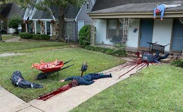 Police called to Dallas home after man's bloody Halloween display frightens neighbours