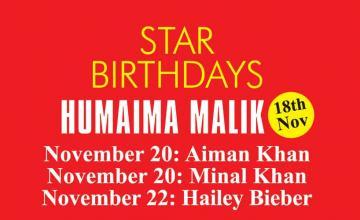 STAR BIRTHDAYS HUMAIMA MALIK