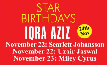 STAR BIRTHDAYS IQRA AZIZ