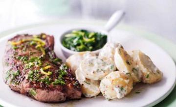 Gremolata Steak with Potato Salad