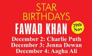 STAR BIRTHDAYS FAWAD KHAN