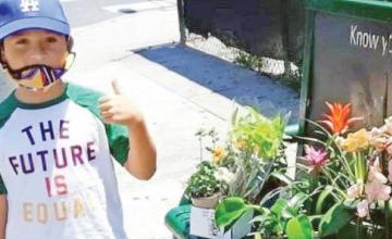Boy, 8, who started business during pandemic helps raise money to move family from shed to apartment