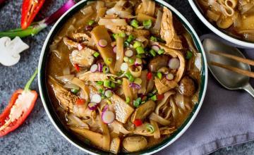 Hot & Sour Chicken Noodle Soup